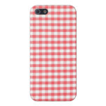 Red Gingham Pattern Case For iPhone 5