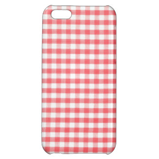 Red Gingham Pattern iPhone 5C Case