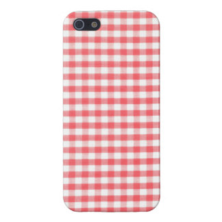 Red Gingham Pattern iPhone 5 Cases