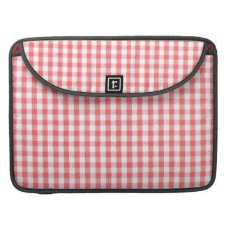 Red Gingham Pattern MacBook Pro Sleeve