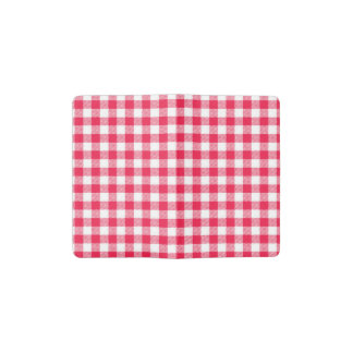 Red Gingham pattern Pocket Moleskine Notebook