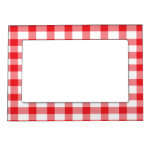 Red Gingham Photo Frame Magnets