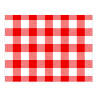 Red Gingham Post Card