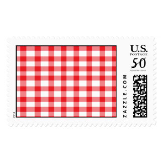 Red Gingham Postage