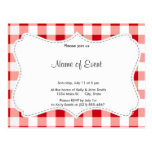 Red Gingham Postcard