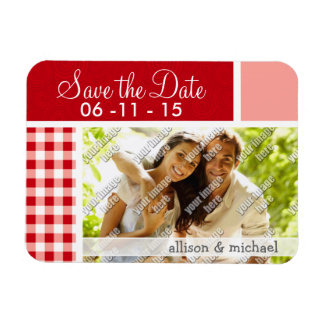 Red Gingham Magnets
