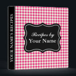"""Red Gingham recipe binder 