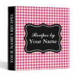 Red Gingham recipe binder | personalized cook book
