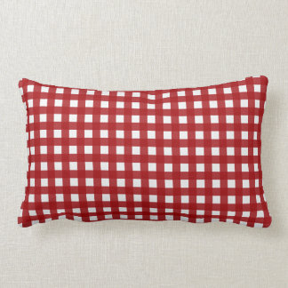 Red Gingham (Red and White Checked) Throw Pillow