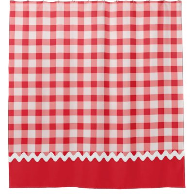 Red and Black Wallace Clan Scottish Tartan Shower Curtain   Zazzle.com