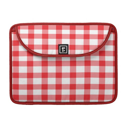 Red Gingham Sleeves For MacBooks