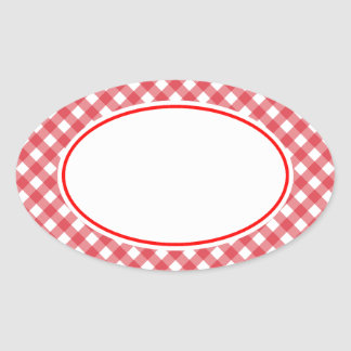 Red Gingham Stickers