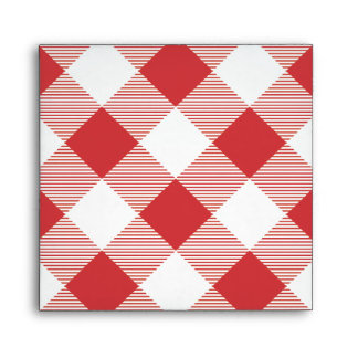 Red Gingham Tablecloth Pattern Envelope