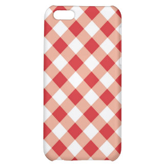 Red Gingham Texture Cover For iPhone 5C
