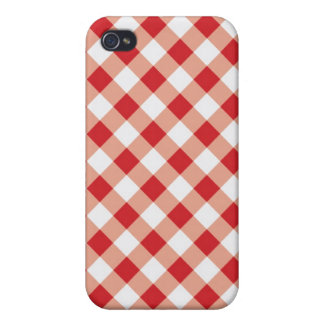 Red Gingham Texture Cases For iPhone 4