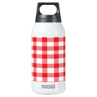 Red Gingham Thermos Bottle
