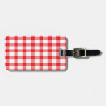 Red Gingham Travel Bag Tags