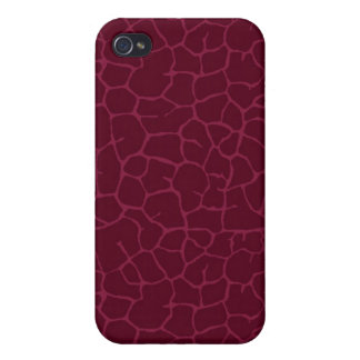 Red giraffe print cover for iPhone 4