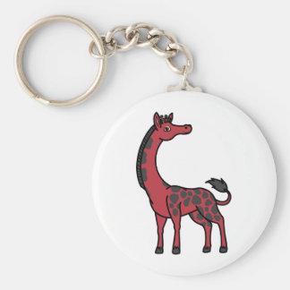 Red Giraffe with Black Spots Keychain