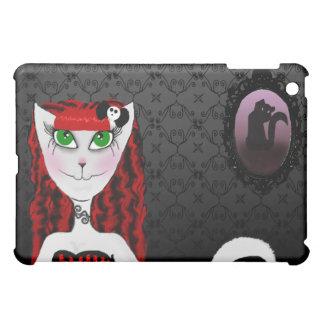 Red Girl Cat iPad Case