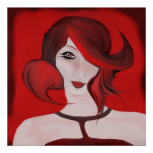 Red Girl Poster