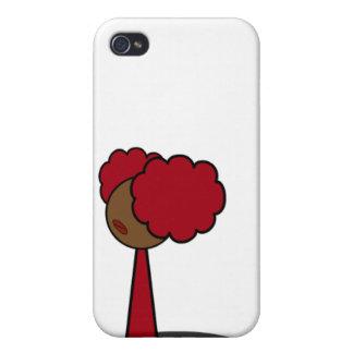Red Girl Walking iPhone 4 Case