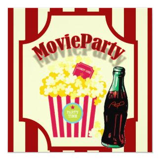 Red Girls Movie Birthday Party Invitation