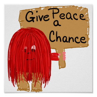 red give peace a chance poster