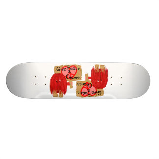 Red give peace a chance skate boards