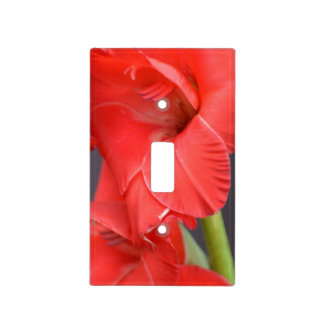 Red Gladiola Flowers Light Switch Covers
