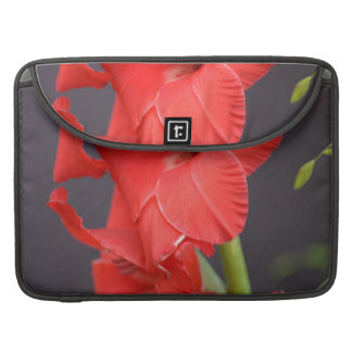 Red Gladiola Flowers Sleeve For MacBook Pro