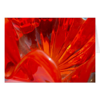 Red Glass Detail Card