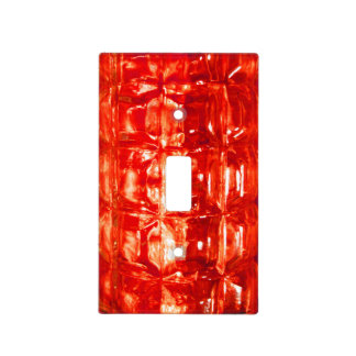 Red Glass Light Switch Cover