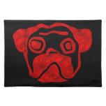 Red Glass Pug Place Mat