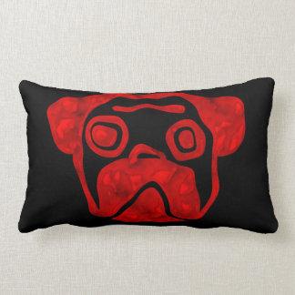 Red Glass Pug Throw Pillow