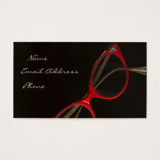 Red Glasses by Leslie Harlow - Customized Business Card