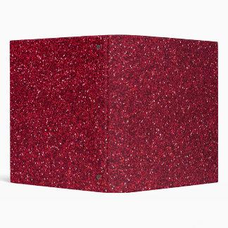 Red Glitter 3 Ring Binder