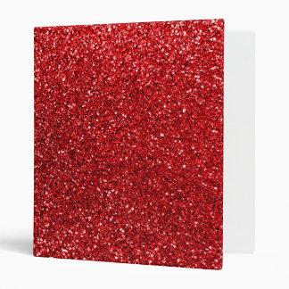 Red glitter vinyl binders