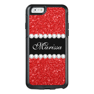 Red Glitter Black Otterbox iPhone 6/6s Case