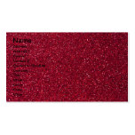 Red Glitter Double-Sided Standard Business Cards (Pack Of 100)