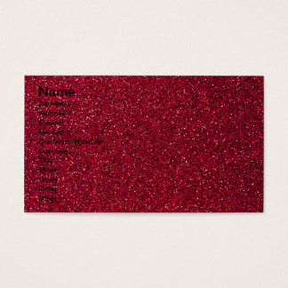 Red Glitter Business Card