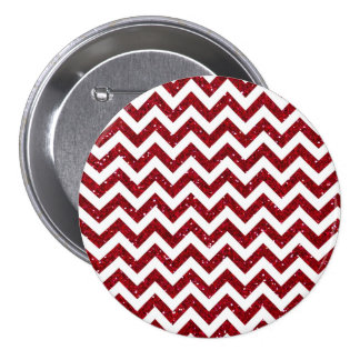 Red Glitter Chevron Pattern Buttons