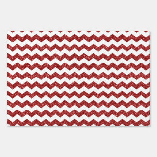 Red glitter chevrons lawn signs