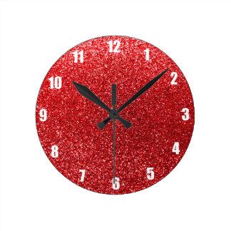 Red glitter wallclocks