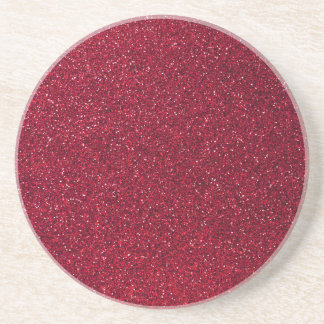 Red Glitter Drink Coaster