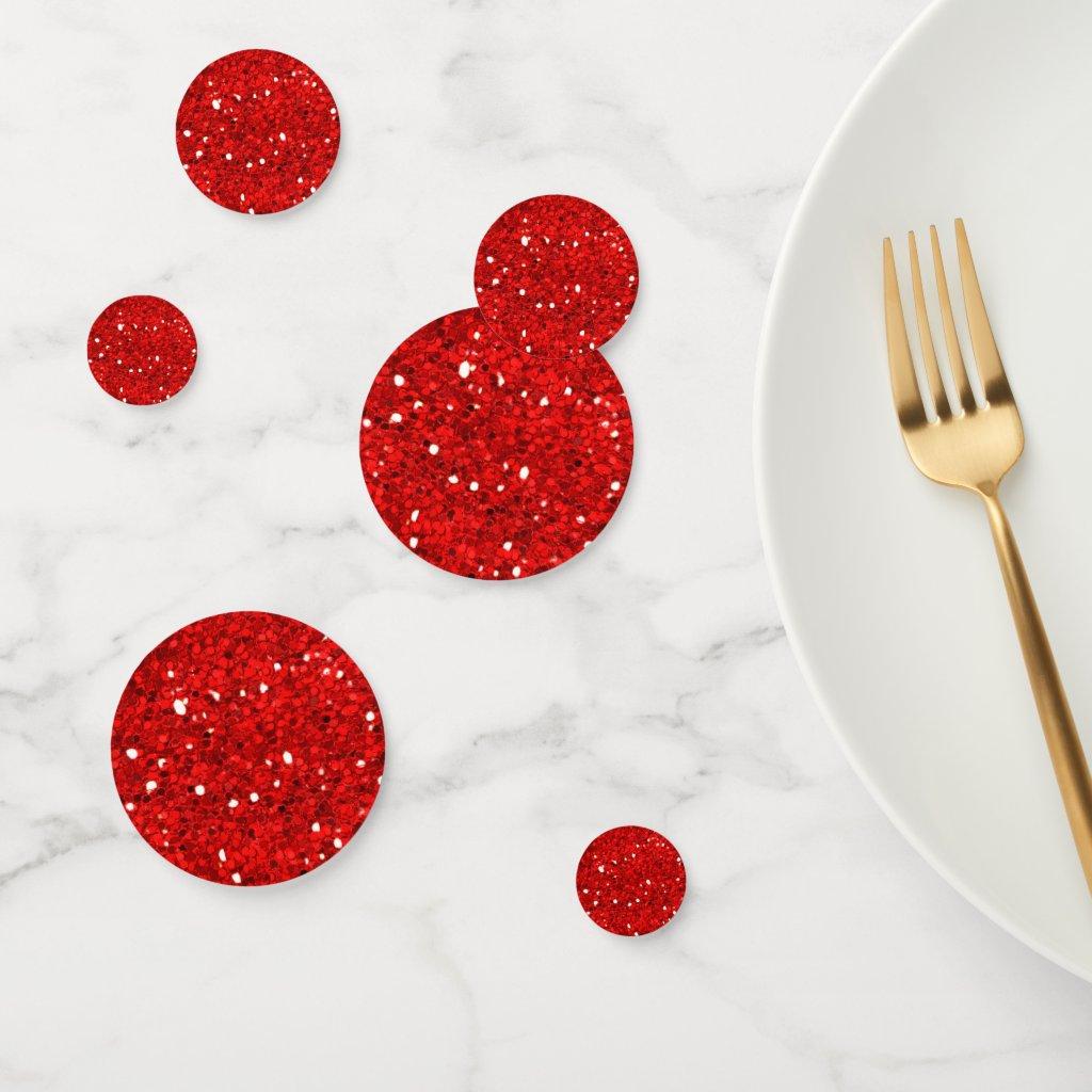 Red Glitter Confetti