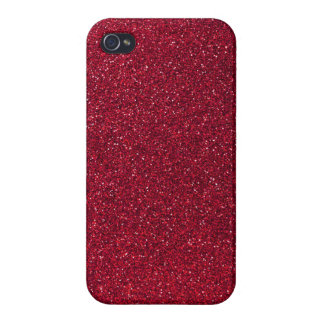 Red Glitter Cover For iPhone 4