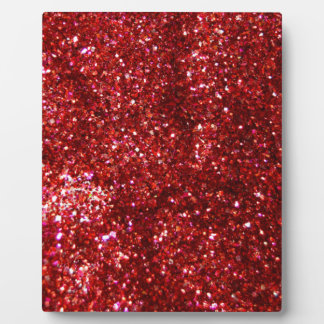 Red Glitter Effect Display Plaques