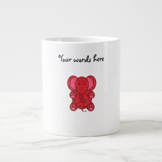 Red glitter elephant 20 oz large ceramic coffee mug