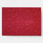 Red glitter envelope